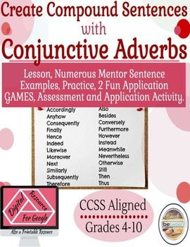 Teach your students how to create compound sentences with semicolons, and compound sentences with semicolons and conjunctive adverbs! This Lesson will provide your students with explicit explanations using mentor sentences, two fun games, two great practice activities, application activities, and a potential summative assessment!The lesson consists of a PowerPoint/Google Slides to show your students how to craft these tricky compound/complex sentences.