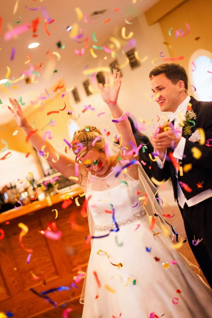 Real Wedding: Jamie & Garrett {surprise confetti canons = check!}