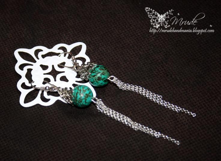 earrings - turkus, calaite
