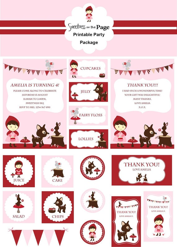 Red Riding Hood Party Pack