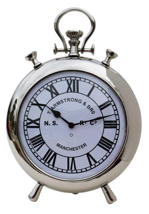 Standing Silver Stopwatch clock