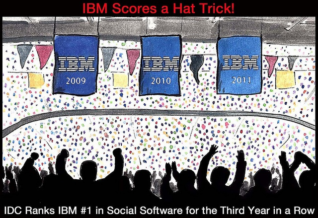 IDC ranks IBM #1in social software for the third year in a row.    http://www-03.ibm.com/press/us/en/pressrelease/38066.wss