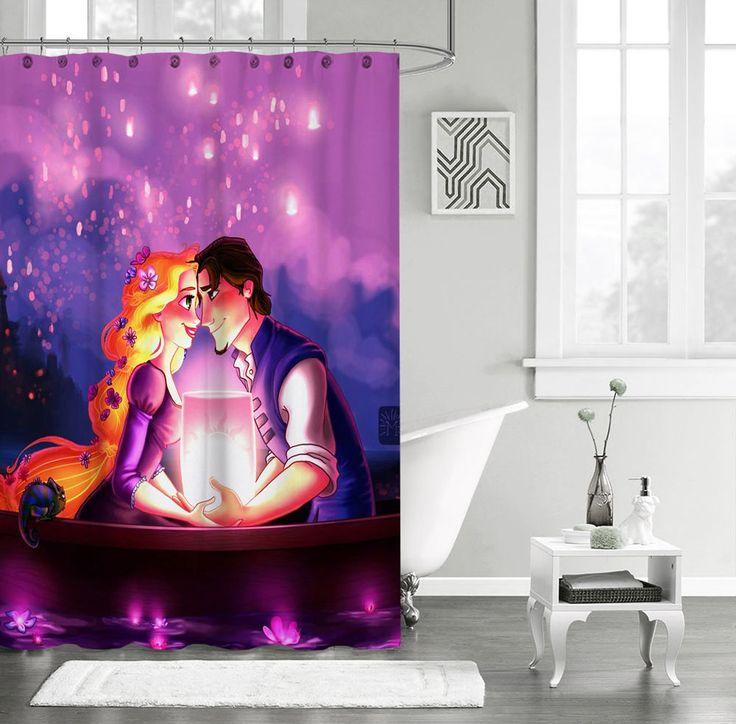 "New Tangled Rapunzel Disney Custom Shower Curtain 60"" x 72"" #Unbranded #Modern #Best #Design #Cheap #Gift #Beautiful #Showercurtain #valentaingift"