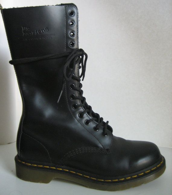 I woke up today missing the Doc  Martens I had in in high school. Mine weren't this high but i'm pinning this anyway.