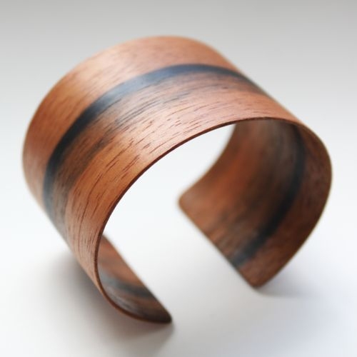 Ebony wood veneer cuff bracelet by MAY Furniture. (Always room for jewelry!)