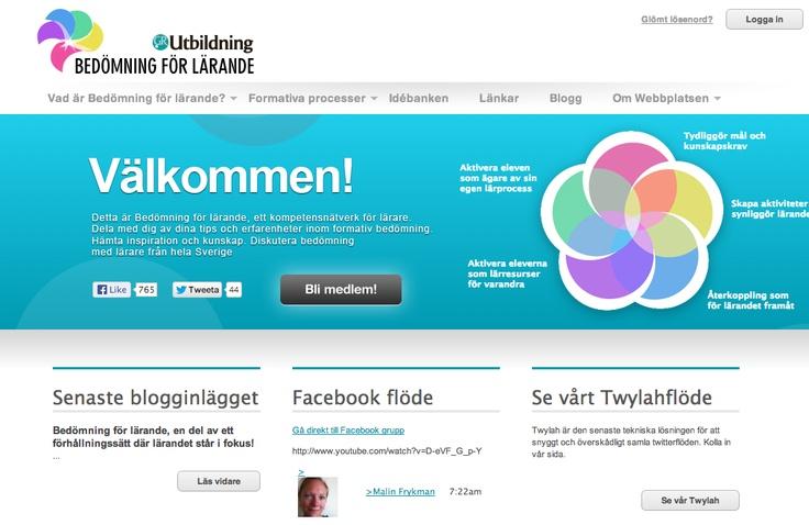 Bedömning för lärande  http://bedomningforlarande.se/