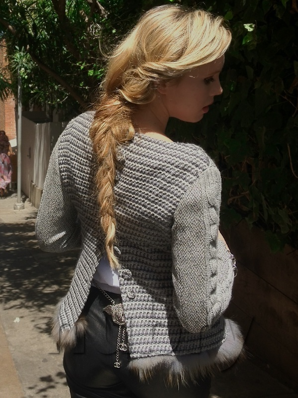 Messy Braid With Tweed Jacket How To Style Leather Pants