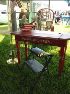 Radio Flyer Wagon Desks and Trunk Top Coffee Tables | vintagelemonblog
