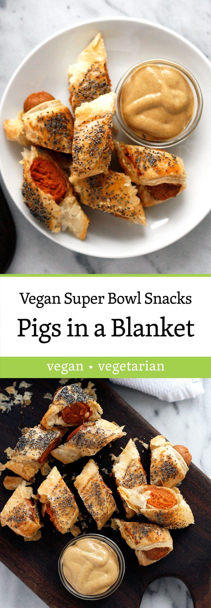 Dijon (Vegan) Pigs in a Blanket - Super Bowl Snacks