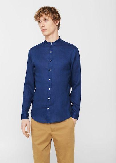 49,99€ Leinenhemd, Maokragen