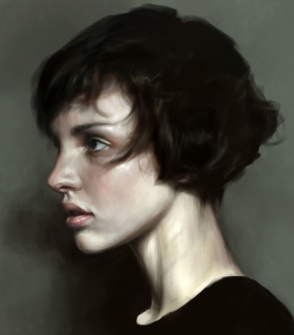 Short Hair, Mohamed Gambouz on ArtStation at https://www.artstation.com/artwork/short-hair