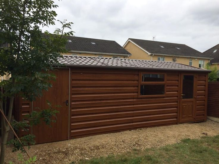 Wood Grain Steel Sheds / Offices From €1,450