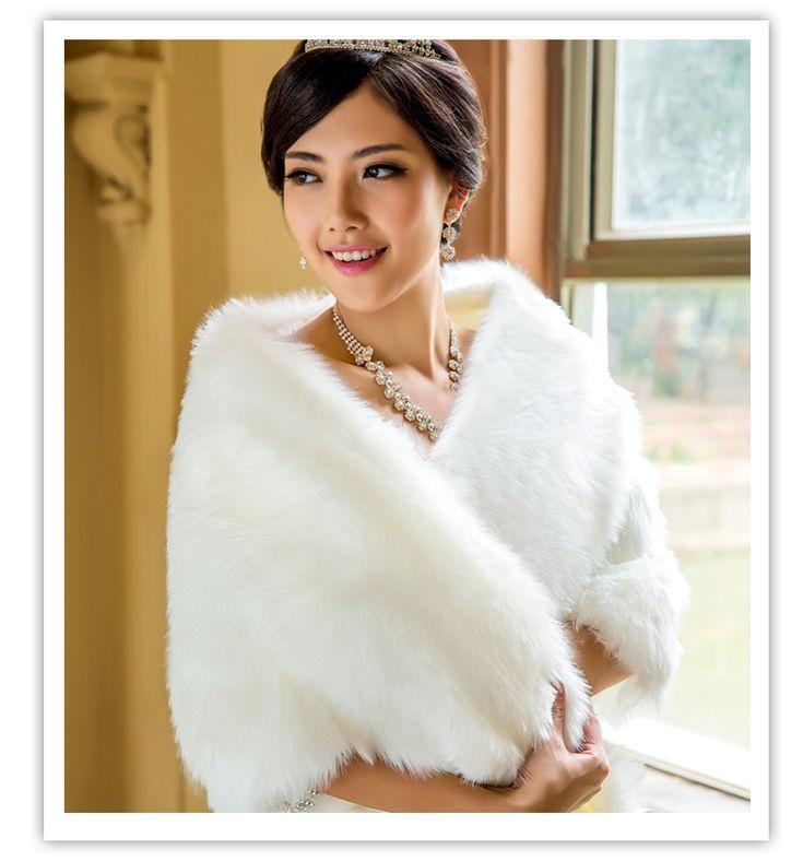 Barato Nova chegada 2016 inverno casaco de pele envoltório de casamento capa de noiva, Compro Qualidade Jaquetas Envoltório de Casamento diretamente de fornecedores da China:        Bem-vindo à minha loja