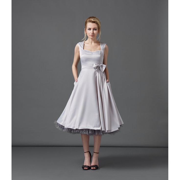 'Gracie May' Dove Grey Occasion Dress  Similar to the Grace but with a bridal feel x