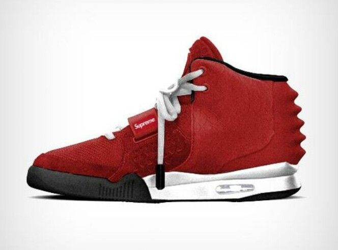 Red Yeezy 2 x Supreme Customize