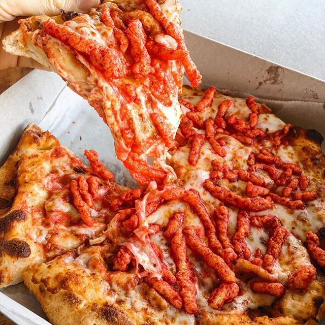 hot cheetos pizza