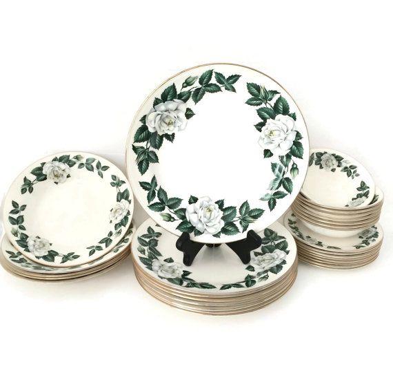 Homer Laughlin Vintage Dinnerware, Vintage Dinnerware Sets, Vintage China Set Wedding Gift
