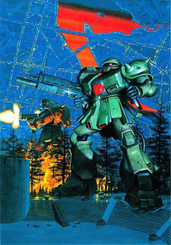 開田裕治の0080パッケージアートはどれも最高すぎる…。 #お前が一番好きなプラモの箱絵を晒せ