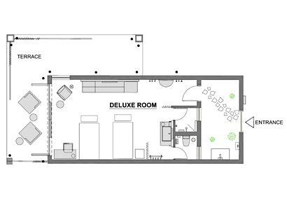 Deluxe room's plan