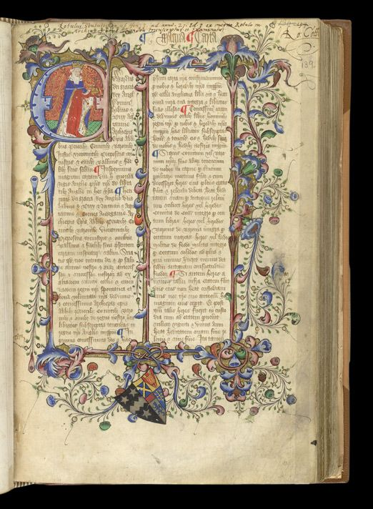 Magna Carta in a 14th century English legal compilation, MS Cotton Claudius D. II, f. 139r.