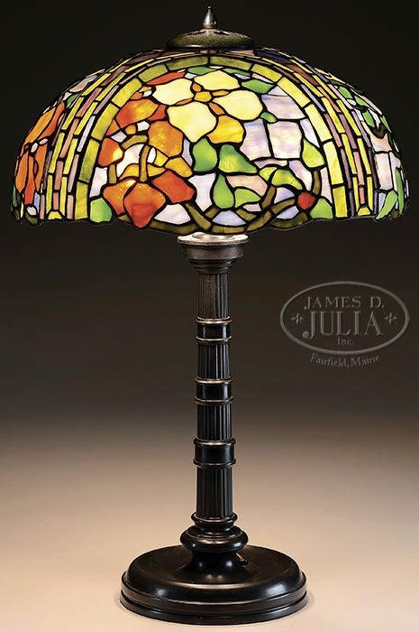 Duffner kimberly leaded orchid table lamp