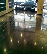 Pala-stone floor after polishing