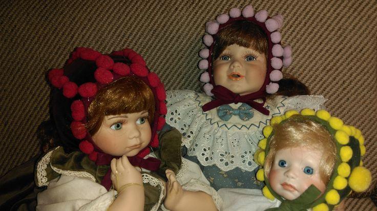 Barneluer, slik de ble laget for 100 år siden og mer... Jeg har brukt ferdige pongponger, ellers er de like :D