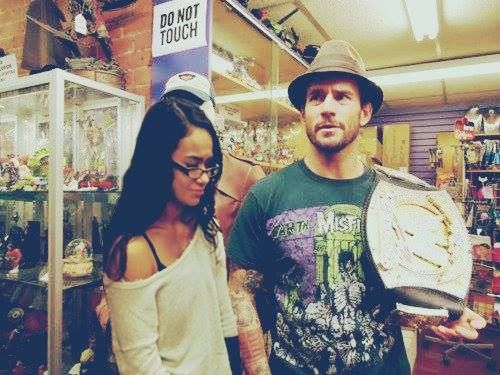 cm punk and his wife aj