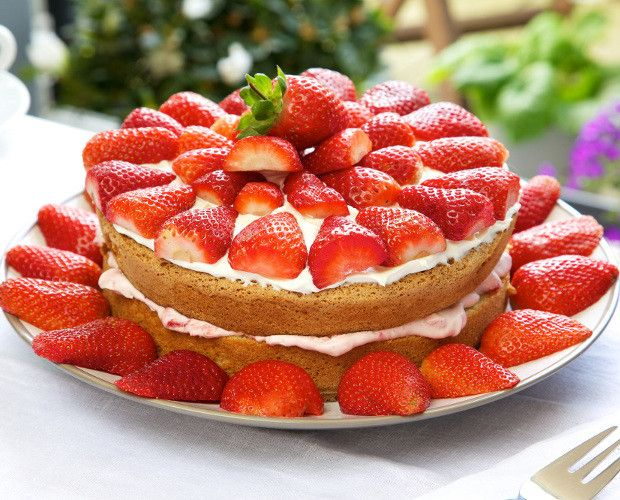 Swedish Midsummer Strawberry Cake Recipe | Cake, Desserts Recipes | Kitchen Goddess