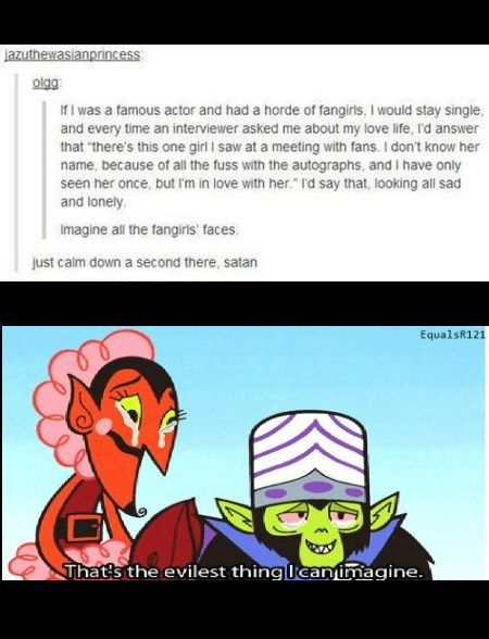 Calm Down, Satan.~~ Again I feel kinda bad right now cause I would probably do this if I had the chance.