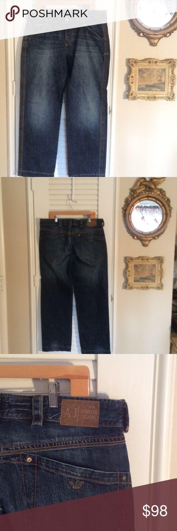 👔👔 MENS VINTAGE ARMANI JEANS BUTTON FLY, 007 SERIES INDIGO ARMANI JEANS. EXCELLENT CONDITION. SIZE 36. Armani Jeans Jeans Straight
