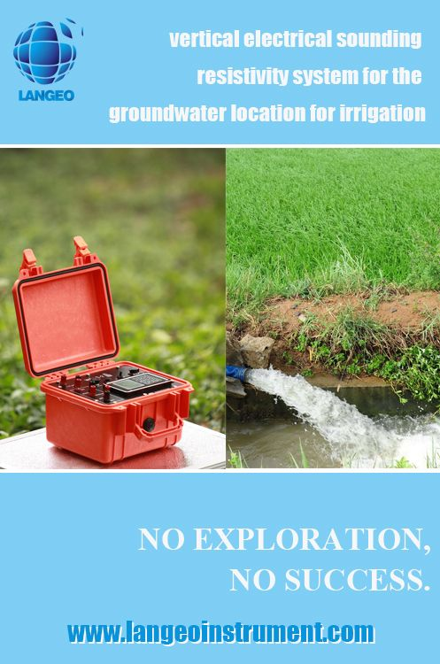 vertical electrical sounding resistivity system for the groundwater location for irrigation