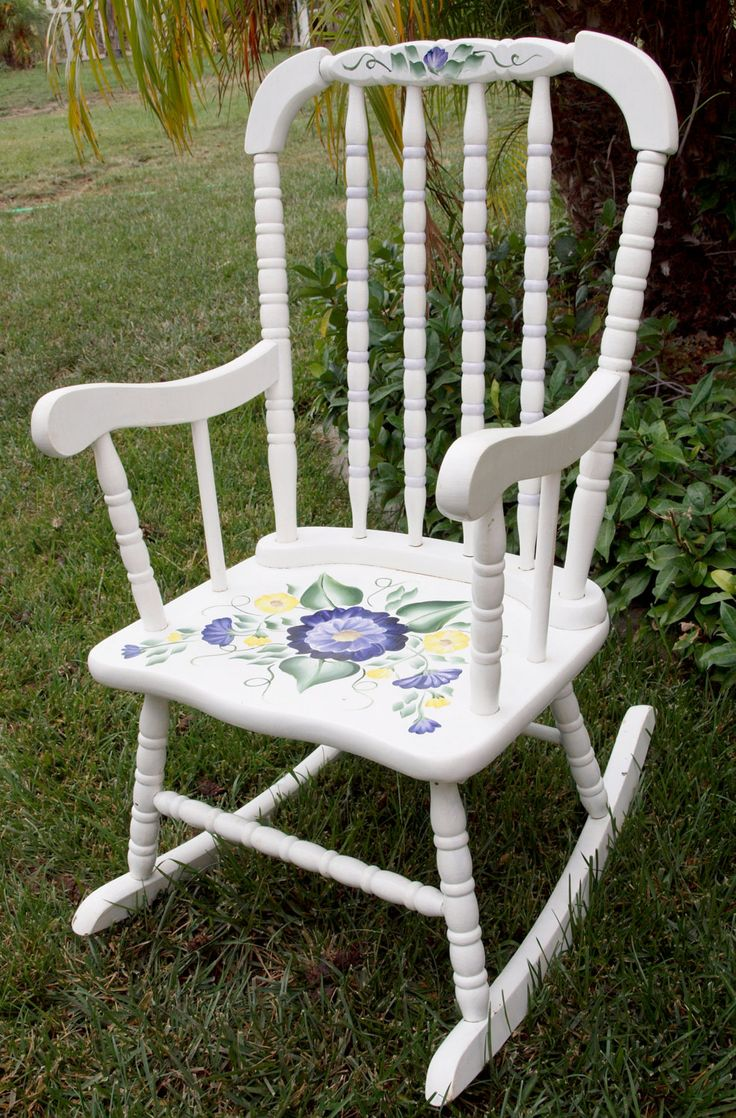 Chair shabby chic painted rocking chairs - Cute Rocking Chairsstilespainted Furniturehand Paintedshabby Chic