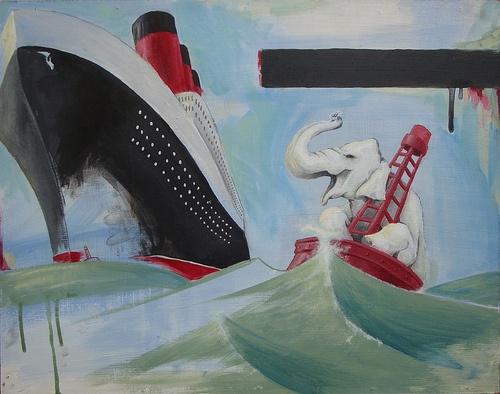 Lost and Found 16 x 20 Acrylic on Board Aaron Lashomb www.argylefineart.com
