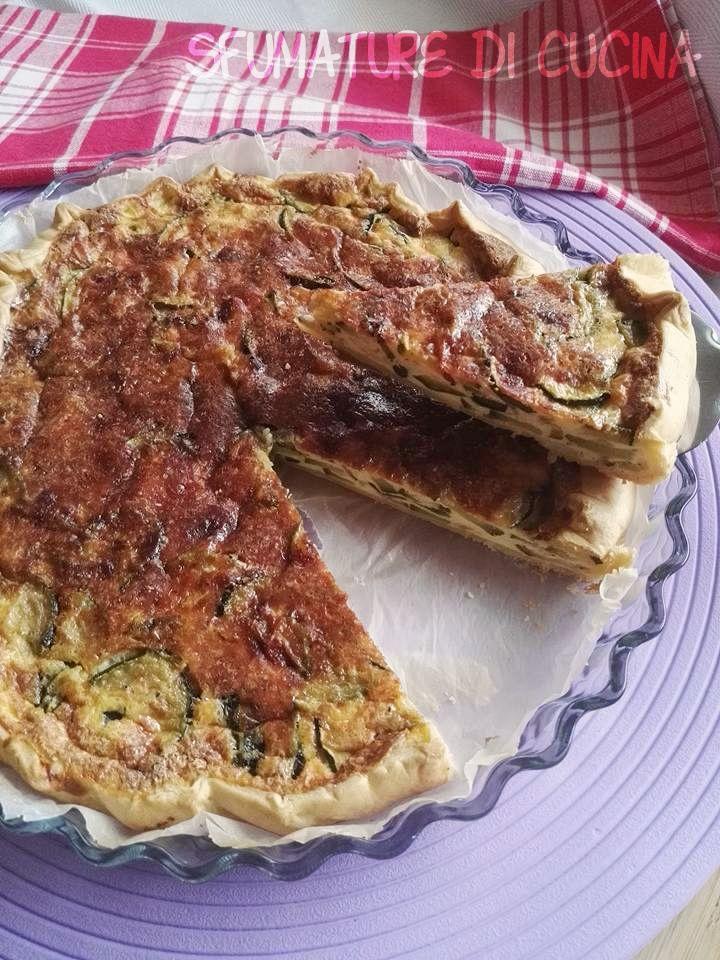 TORTA SALATA ZUCCHINE E CAPRINO