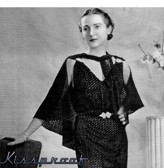 Hey, I found this really awesome Etsy listing at https://www.etsy.com/listing/197084159/vintage-30s-crochet-evening-dress-cape