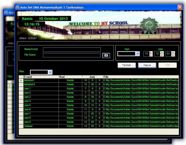 Aplikasi Bel Sekolah Otomatis Full Version Dengan Ringtone Mp3