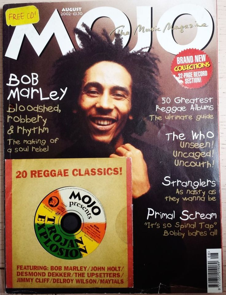 Mojo 105 Aug 2002 Bob Marley Article Skatalites Ska Reggae CD Clash Stranglers