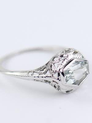 antique aquamarine engagement ring rg 3602 antiques