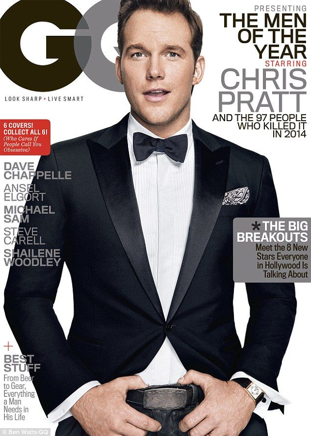 Well suited: Chris Pratt covered GQ's December issue as one of the magazine's Men of the Y...