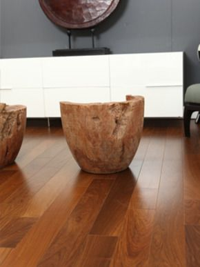 Brazilian Walnut is an attractive exotic type  which varies from olive brownish to blackish in color, normally with light or deeper striping, usually coated with a color.