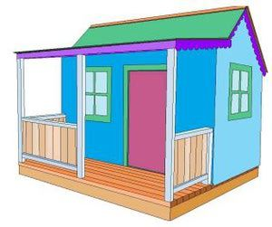 1000 ideas about playhouse plans on pinterest diy for Building a wendy house from pallets