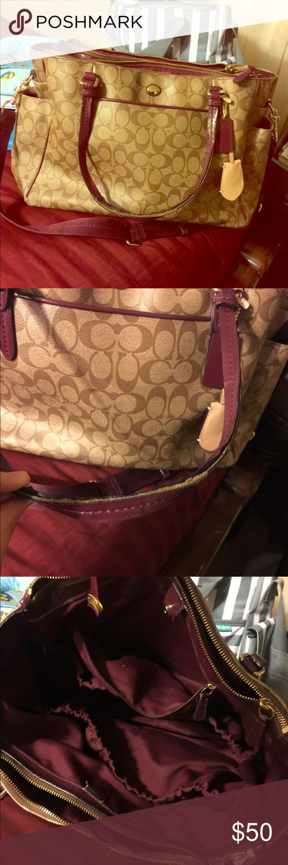coach diaper bag wear shown on pictures Coach Bags Baby Bags