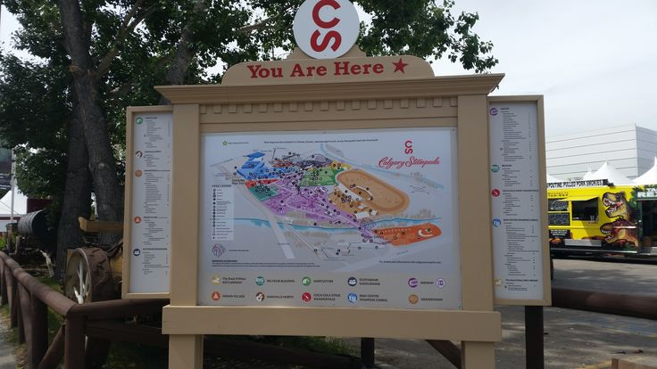 Calgary Stampede is enormous! Here's a map to help you out!