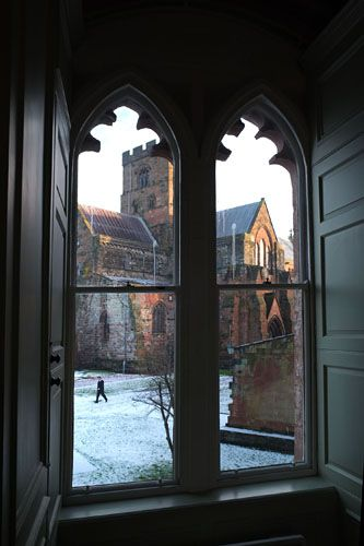 Carlisle Cathedral, Cumbria, UK. It was founded as an Augustinian priory and became a cathedral in 1133