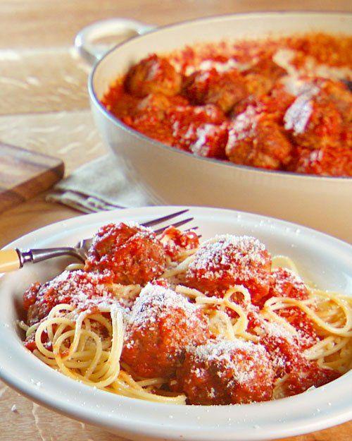 Martha Stewart Meatballs and Tomato Sauce