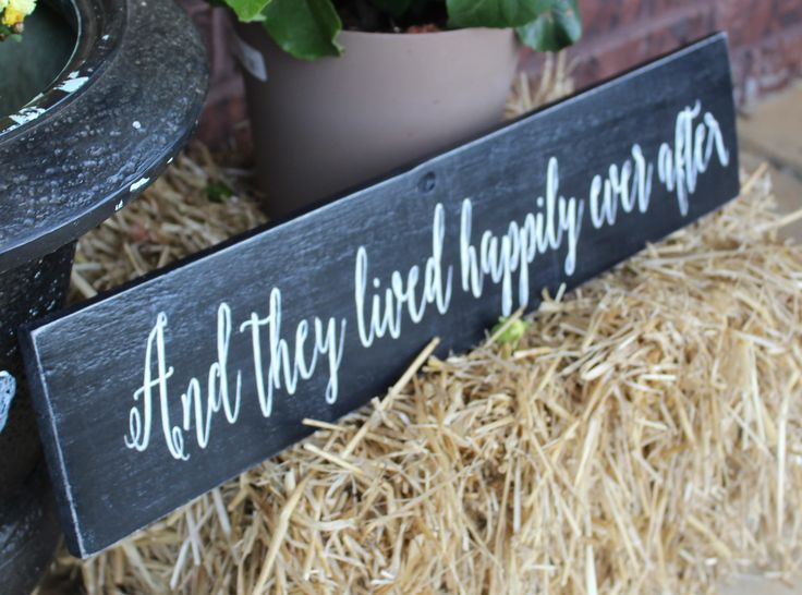 And They Lived Happily Ever After made of reclaimed pallet wood