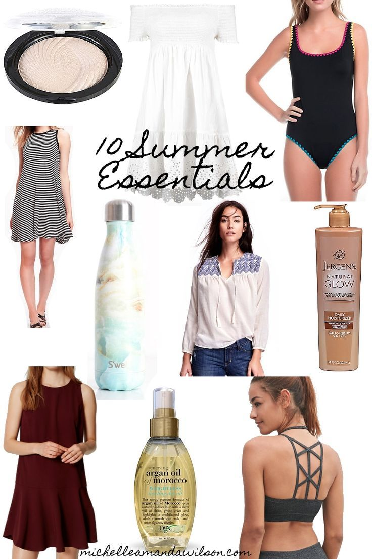 My top 10 fashion and beauty summer essentials at Michelle Amanda Wilson.