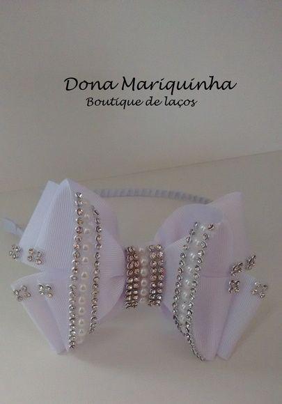 Tiara Branca Luxo cod.37