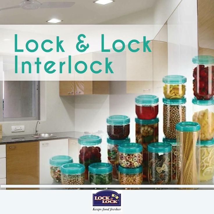 Now deal with your kitchen spaces in an efficient way with Lock & Lock Interlock containers designed with unique inter locking system for premium stackability.